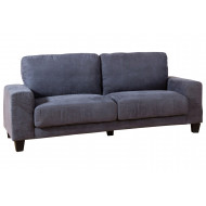 Isner Faux Suede 3 Seater Sofa