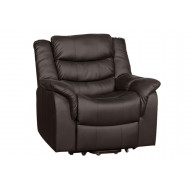 Hunter Leather Recliner Armchair (Brown)