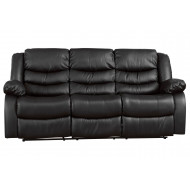 Buet Leather 3 Seater Recliner Sofa