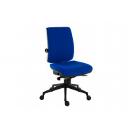Baron Deluxe 24HR Fabric Ergonomic Operator Chair (Black Frame)