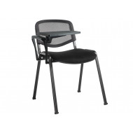 Pack Of 4 Mesh Back Conference Chairs With Writing Tablet