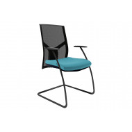 Rhine Mesh Back Visitor Chair With Black Backrest