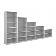 All White Bookcases