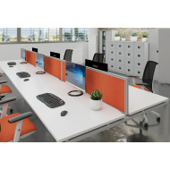 Aluminium Framed Desktop Screens For Bench Desks