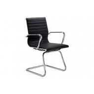 Argens Medium Back Chrome Cantilever Arm Chair