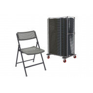 Ziggy Folding Chair Bundle Deal (37 Chairs & 1 Trolley)