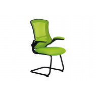 Moon Mesh Back Visitor Chair With Black Frame (Lime Green)