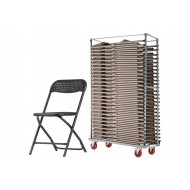 Maxi Folding Chair Bundle Deal (40 Chairs & 1 Trolley)