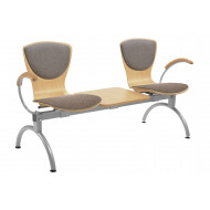 Serena 2 Person Beam Seating With Upholstered Seat & Back