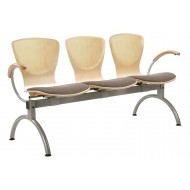 Serena 3 Person Beam Seating With Upholstered Seat