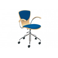 Serena Swivel Chair With Upholstered Seat & Back