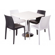 Clearlake 5 Piece Square Dining Set (White Top)
