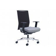 Riviera High Back Operator Chair With Black Backrest