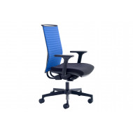Riviera High Back Operator Chair With Blue Backrest