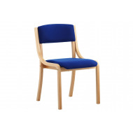 Linz Fabric Reception Sidechair (Blue)