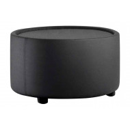 Zola Round Fabric Coffee Table (Black)