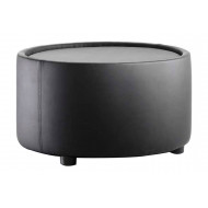 Zola Round Leather Coffee Table