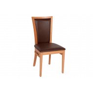 Danora Brown Fully Upholstered Side Chair With Natural Frame