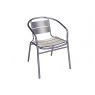 Kalan Aluminium Stacking Arm Chair