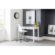 Cather Home Office White Desk and White Chair Bundle Deal