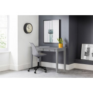 Cather Home Office Grey Desk and Grey Chair Bundle Deal