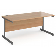 Value Line Classic+ Rectangular C-Leg Desk (Graphite Leg)
