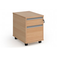 Value Line Classic+ 2 Drawer Mobile Pedestal (Silver Slats)