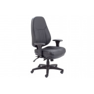 Genoa 24HR Leather Operator Chair