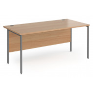 Value Line Classic+ Rectangular H-Leg Desk (Graphite Leg)
