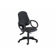 Orchid Ergonomic PU Operator Chair With Lumbar Pump & Fixed Arms