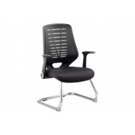 Next-Day Baton Mesh Back Visitor Chair With Airmesh Seat
