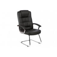 Next-Day Muscat Deluxe Leather Visitor Chair