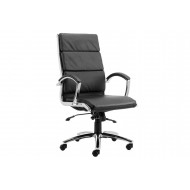 Next-Day Andorra High Back Leather Faced Executive Chair