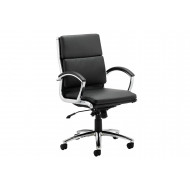Next-Day Andorra Medium Back Leather Faced Executive Chair