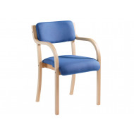 Next-Day Harmony Wood Framed Stacking Armchair