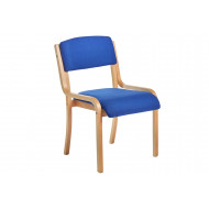Next-Day Harmony Wood Framed Stacking Side Chair