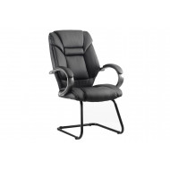 Next-Day Fiji Leather Faced Visitor Chair