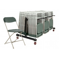 Classic Folding Chair Bundle Deal (84 Chairs & 1 Low Trolley)