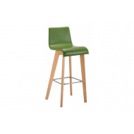 Cornell Upholstered High Dining Stool With Wooden Base
