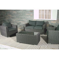 Malana 4 Piece Rattan Lounge Set