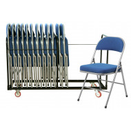 Deluxe Folding Chair Bundle Deal (18 Chairs & 1 Trolley)