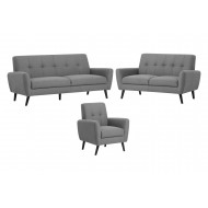 Connelly Chair, 2 Seater Sofa and 3 Seater Sofa Bundle Deal (Grey)