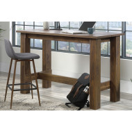 Hetton Counter Height Home Office Desk (Grand Walnut)