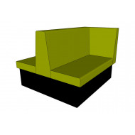 Tiley Double Booth With Right Hand Return