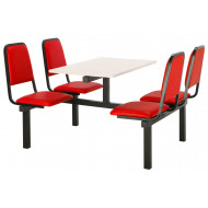 Conran 4 Seater Fast Food Unit (Double Entry)