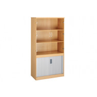 Multi Storage Glazed Top Tambour Cupboards