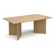 All Oak Rectangular Boardroom Tables