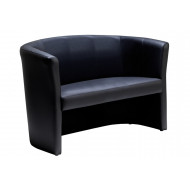 Next-Day Leather Faced Tub Sofa
