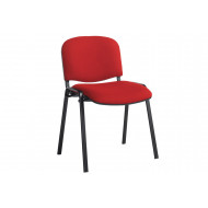 Next-Day Pack Of 4 Black Frame Conference Chairs