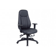 Cortona High Back Leather Faced Operator Chair